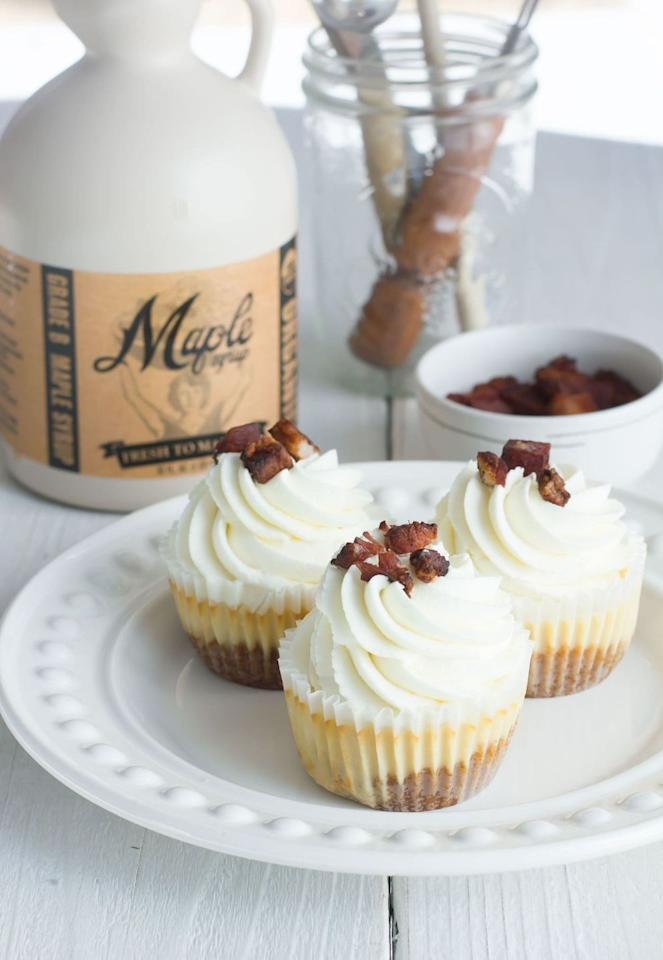 "<p>So, there's maple. And there's bacon. And there's cheesecake. Need we say more? Bake up this incredible one-of-a-kind dessert and watch everyone clamor for the last piece.</p><p><a class=""body-btn-link"" href=""https://bestfriendsforfrosting.com/best-maple-bacon-cheesecake-recipe/"" target=""_blank"">GET THE RECIPE</a></p>"