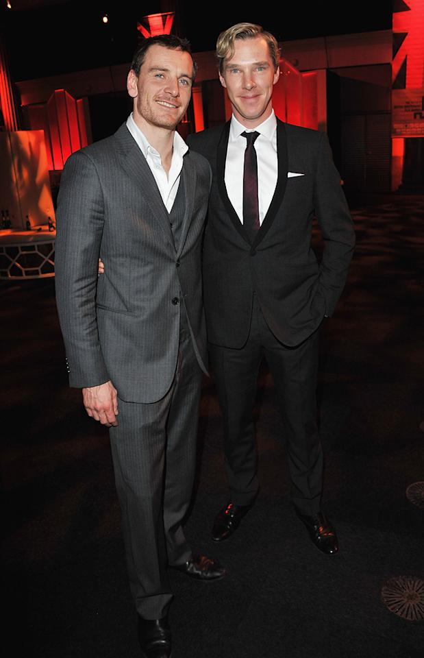 "<a href=""http://movies.yahoo.com/movie/contributor/1808605401"">Michael Fassbender</a> and <a href=""http://movies.yahoo.com/movie/contributor/1809671134"">Benedict Cumberbatch</a> at the 2011 British Independent Film Awards on December 4, 2011 in London, England."