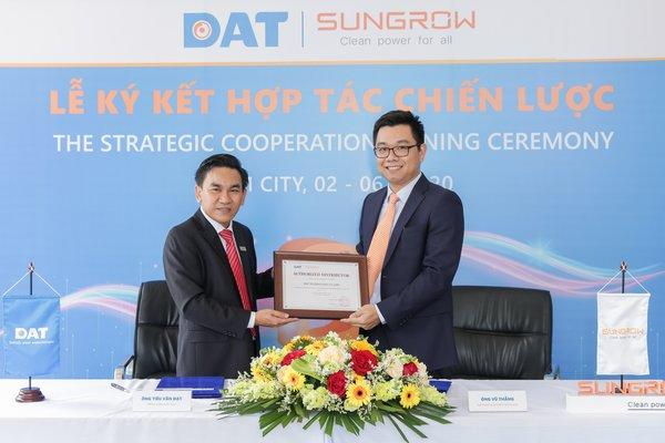 100MW distribution agreement signing between Sungrow and DAT