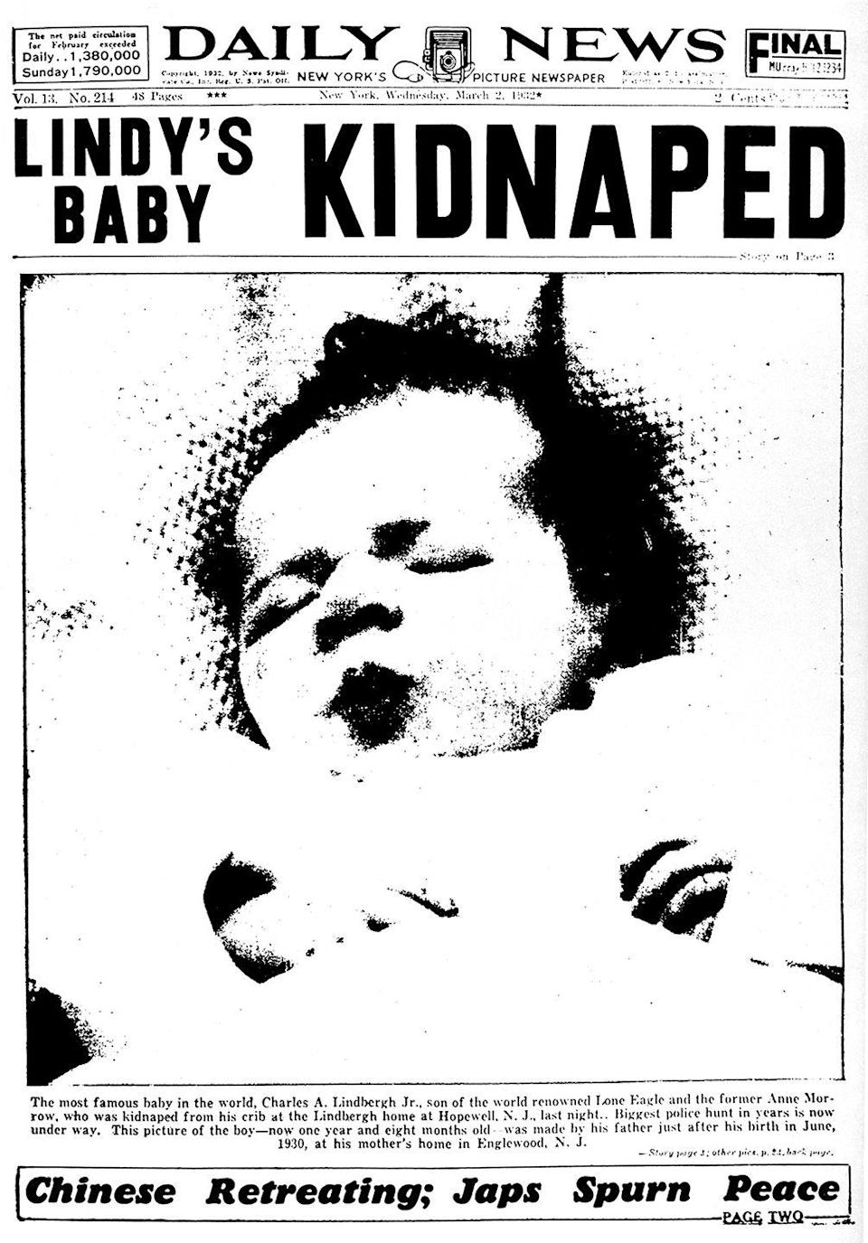 <p>When aviator Charles Lindbergh's infant son was kidnapped, the entire world focused their attention on the story. Many remember the case going cold, but they sadly found the body and sentenced the killer to death for the heinous crime. </p>