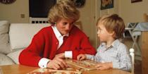 <p>Playing games with Prince William. </p>