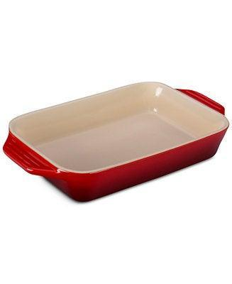 """<br><br><strong>Le Creuset</strong> Signature Rectangular Dish, $, available at <a href=""""https://go.skimresources.com/?id=30283X879131&url=https%3A%2F%2Ffave.co%2F3e7h96M"""" rel=""""nofollow noopener"""" target=""""_blank"""" data-ylk=""""slk:Macy's"""" class=""""link rapid-noclick-resp"""">Macy's</a>"""