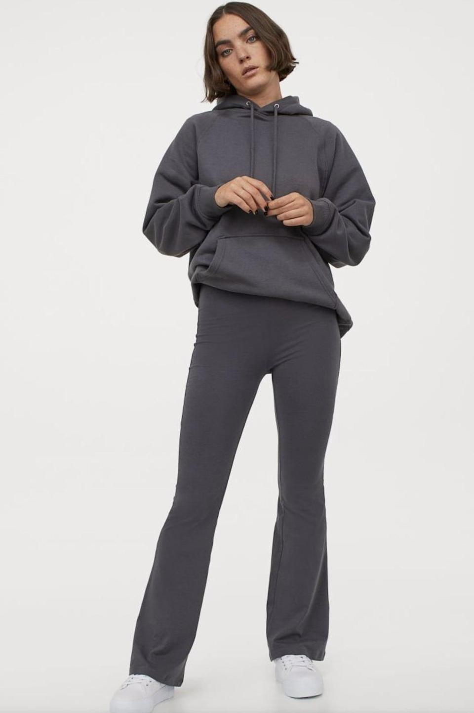 <p>The <span>H&M Flared Leggings</span> ($13) are a basic, affordable option, and are available in black and grey.</p>