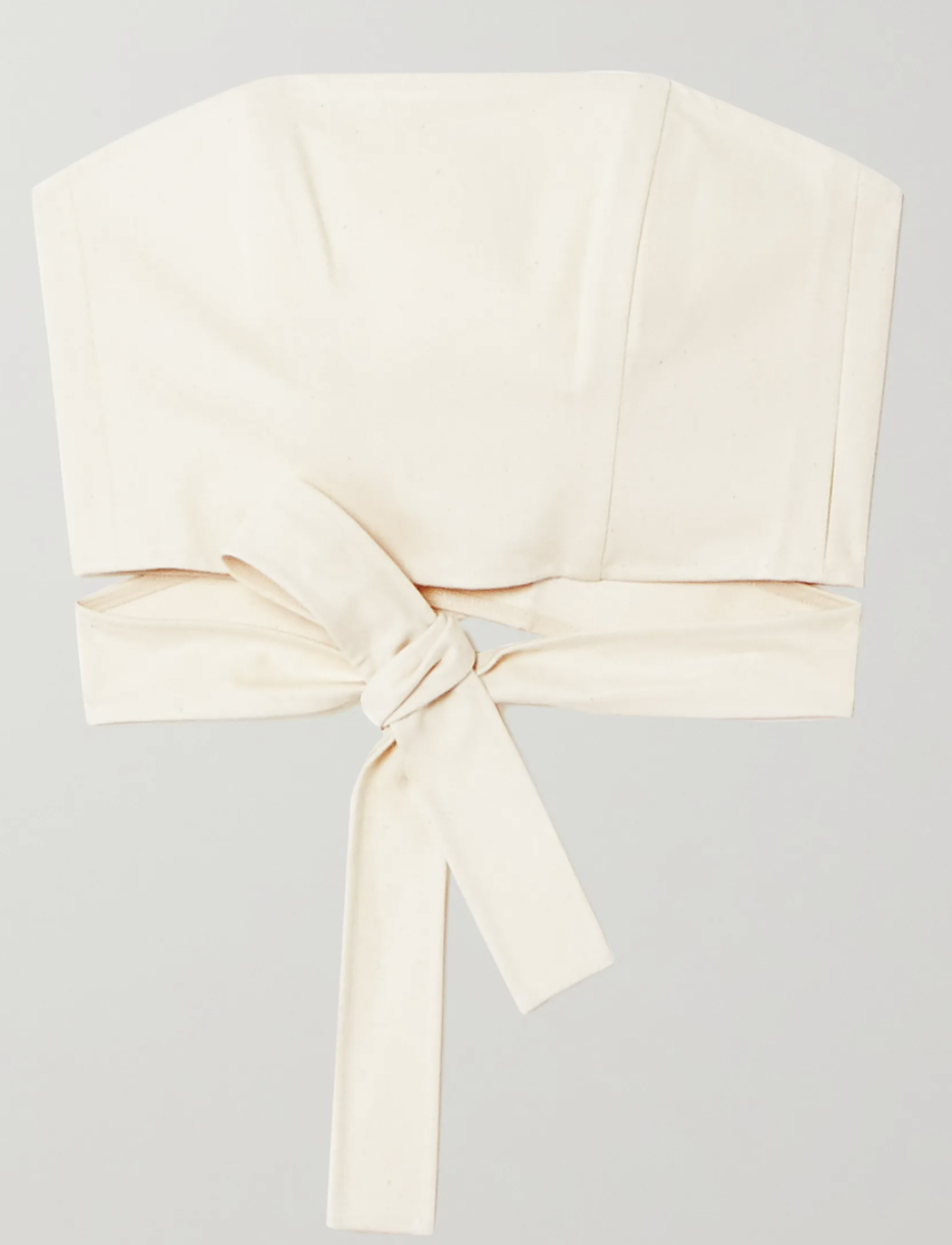 Artclub Hera cotton wrap top. (PHOTO: Net-A-Porter)