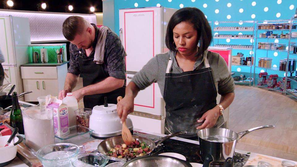"""<p><em>Best Leftovers Ever </em>celebrates the art of making something out of nothing. In the show, amateur chefs are tasked with transforming leftover foods into a meal of a completely different palate and taste profile. After watching the show, you might be inspired to experiment with yesterday's dinner. <br></p><p><a class=""""link rapid-noclick-resp"""" href=""""https://www.netflix.com/watch/81087405?source=35"""" rel=""""nofollow noopener"""" target=""""_blank"""" data-ylk=""""slk:Watch Now"""">Watch Now</a></p>"""