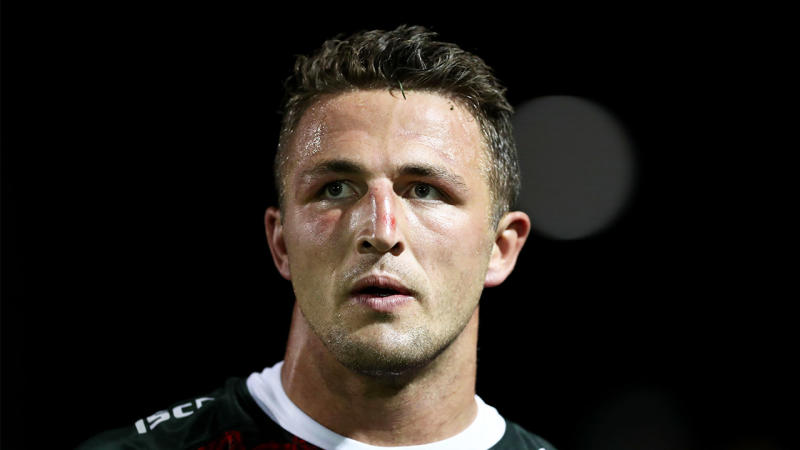 Sam Burgess is reportedly in hospital after a set back to his shoulder surgery. (Getty Images)