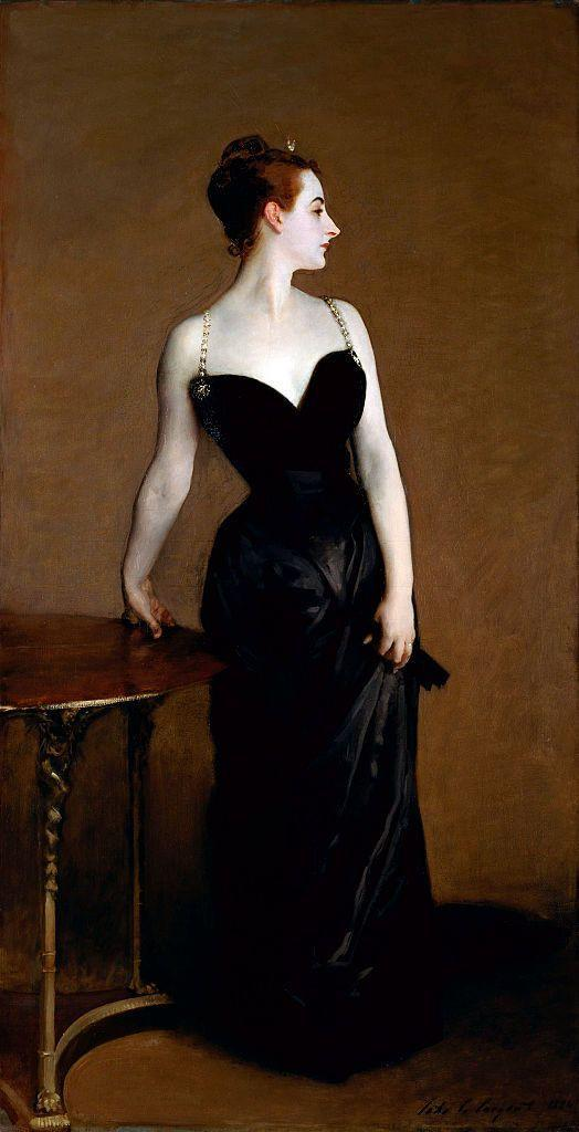 <p>Tell us you're an art history buff without telling us you are an art history buff. This elegant woman caused quite a scandal when John Singer Sargent painted her with a strap slightly off the shoulder (he later re-painted it to its prim and proper place). Swap out the straps of a dress with delicate chains, sweep your hair into an updo, and if you are really feeling wild, let one strap slip just so... </p>