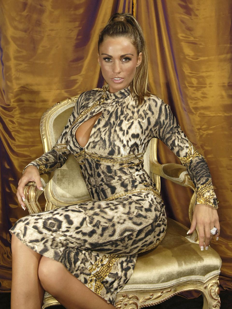 Katie Price at the Dorchester Hotel in London, United Kingdom. (Photo by Nick Harvey/WireImage)