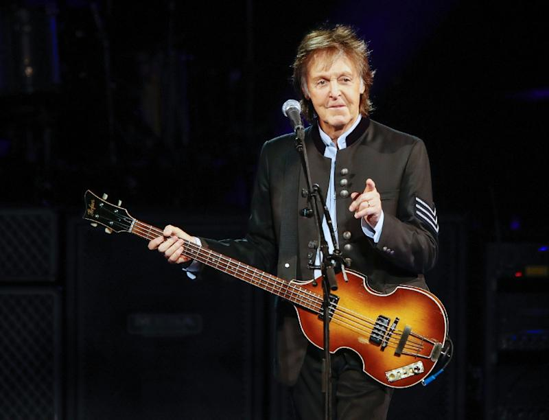 "Paul McCartney, seen in 2017, gave a shoutout to Canadian teenager Emma Stevens' cover of ""Blackbird"" in her Mi'kmaq language during a concert in Kentucky"
