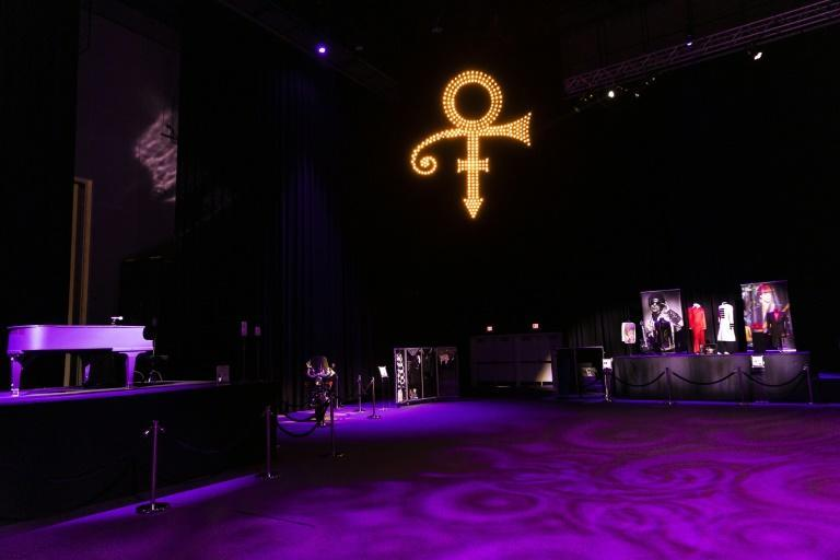 The 12,500-square-foot soundstage, designed for concerts and tour rehearsals, is now backdropped by a giant screen that displays archival Prince concert and video footage, with many of his instruments and concert attire on display for visitors