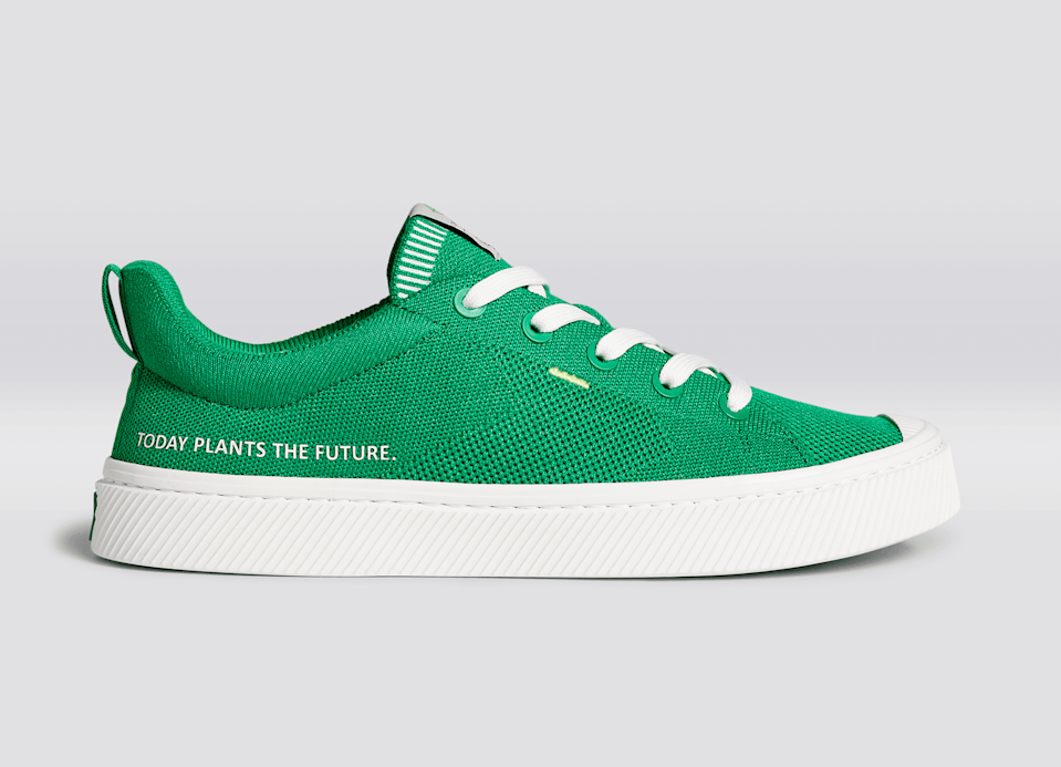 """<h2>Cariuma</h2><br>For sneakers you can look and feel good in, consider this thoughtful brand out of Rio de Janeiro. Their sneakers are made from natural materials that minimize the harmful impact of production on the planet while maximizing efficiency on water consumption. Plus, your sneakers will arrive in recyclable packaging through a shipping process that's 100% carbon neutral. The brand also just launched its first-ever made-to-order sneaker in celebration of Earth Day. This new version of the low-top<a href=""""https://mailtrack.io/trace/link/61ca637aa5238292453ee75453880acec2d97b78?url=https%3A%2F%2Fcariuma.com%2Fcollections%2Fthe-ibi-womens&userId=4795362&signature=a619c5bc1ac616ea"""" rel=""""nofollow noopener"""" target=""""_blank"""" data-ylk=""""slk:bamboo knit IBI"""" class=""""link rapid-noclick-resp""""> bamboo knit IBI </a>can be pre-ordered from April 22nd to April 30th and will be produced based on customer demand.<br><br><em>Shop <a href=""""https://cariuma.com/"""" rel=""""nofollow noopener"""" target=""""_blank"""" data-ylk=""""slk:Cariuma"""" class=""""link rapid-noclick-resp""""><strong>Cariuma</strong></a></em><br><br><strong>Cariuma</strong> IBI Sneaker in Earth Day Green, $, available at <a href=""""https://go.skimresources.com/?id=30283X879131&url=https%3A%2F%2Fcariuma.com%2Fproducts%2Fibi-earth-day-green-knit-sneaker-women"""" rel=""""nofollow noopener"""" target=""""_blank"""" data-ylk=""""slk:Cariuma"""" class=""""link rapid-noclick-resp"""">Cariuma</a>"""