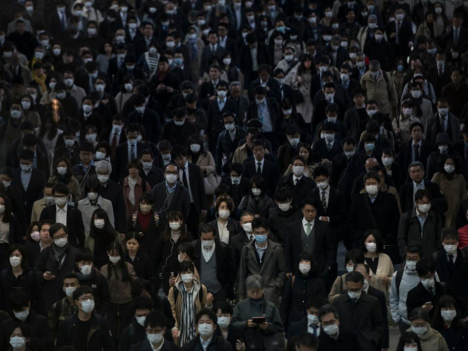 The new variant was first detected in Tokyo in four people who had travelled from Brazil (Getty Images)
