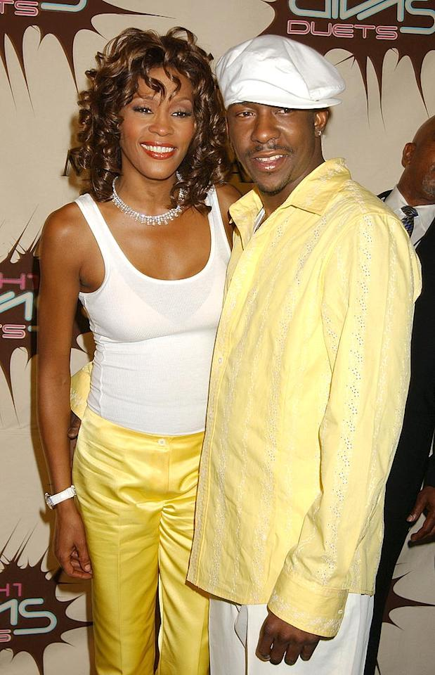 "Whitney and Bobby in sunnier days. Gregg DeGuire/<a href=""http://www.wireimage.com"" target=""new"">WireImage.com</a> - May 22, 2003"
