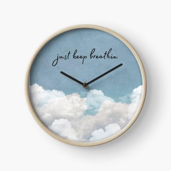 <p>Level up their home decor with this calming and lovely <span>Breathin Lyrics Clock by Dalia Wahid</span> ($31). It will remind them to just keep breathin and breathin in their most stressful days.</p>