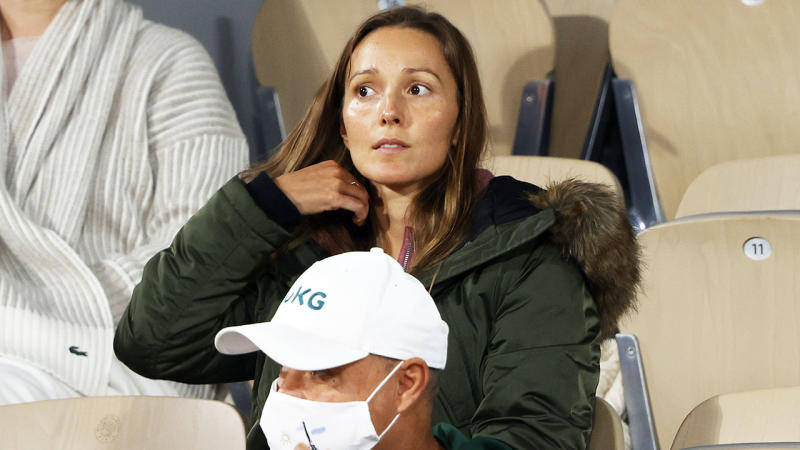 Jelena Djokovic, pictured here watching on during the French Open semi-finals.