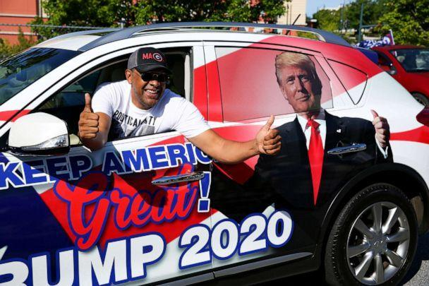 PHOTO: Ga. State Representative Vernon Jones poses for a photo before joining supporters of U.S. Donald President Trump in driving in a caravan around metro Atlanta, Sept 5, 2020.   (Dustin Chambers/Reuters, FILE)