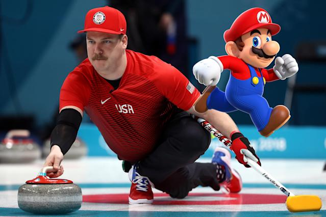 <p>American curler Matt Hamilton is a dead-ringer for video game icon Super Mario. The internet exploded with memes comparing the two. </p>