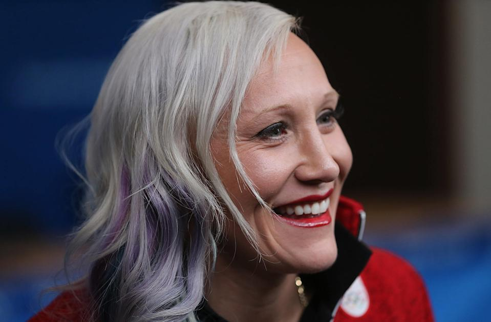 ALPENSIA, Pyeongchang- FEBRUARY 5  -  Bobsledder Kaillie Humphries during a Canadian team press conference  at the Main Press Centre at the 2018 Pyeonchang Winter Olympics  in Alpensia in Pyeongchang in South Korea. February 5, 2018.        (Steve Russell/Toronto Star via Getty Images)