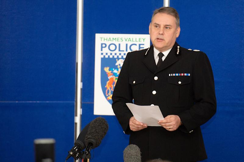 Thames Valley Police Chief Constable John Campbell said PC Harper had been married just a month earlier. (SWNS)