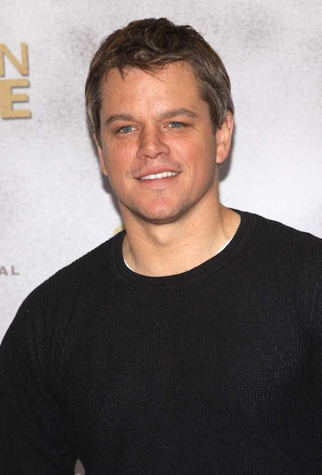"Can you believe Matt Damon turns 40 on October 8? It seems like it was just yesterday when we saw Matt utter his first line of movie dialogue in 1988's ""Mystic Pizza"" at age 18. But we knew the cute Boston boy was destined for big things. Damon -- who is now happily married with two children (and a third on the way) -- nabbed a Best Original Screenplay Oscar for ""Good Will Hunting"" in 1997 and has starred in numerous movies including ""The Talented Mr. Ripley,"" ""The Bourne Identity"" series, and ""The Departed"" to name a few. Anita Bugge/<a href=""http://www.wireimage.com"" target=""new"">WireImage.com</a> - March 3, 2010"