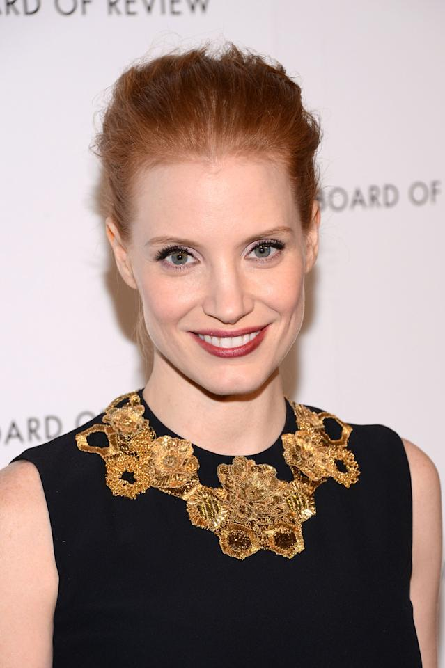 NEW YORK, NY - JANUARY 08:  Actress Jessica Chastain attends the 2013 National Board Of Review Awards Gala at Cipriani 42nd Street on January 8, 2013 in New York City.  (Photo by Stephen Lovekin/Getty Images)