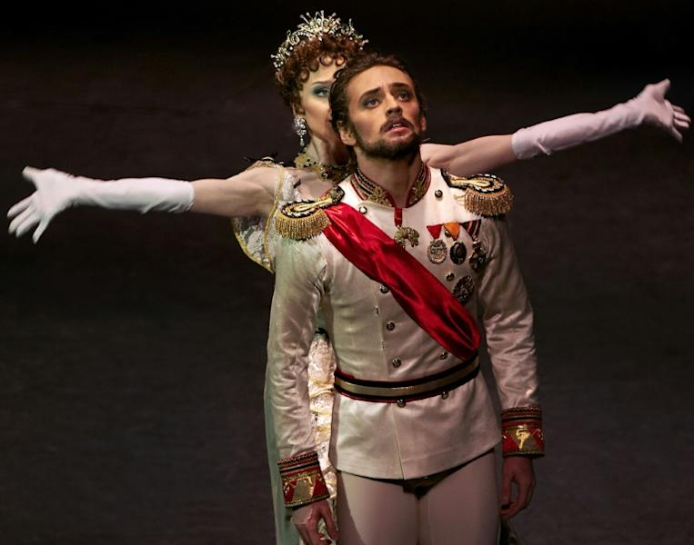 "This 2013 picture provided by Sergei Polunin shows the Ukrainian ballet dancer in the role of Prince Rudolf in Kenneth MacMillan's ballet ""Mayerling"" at the Stanislavsky and Nemirovich-Danchenko Music Theatre in Moscow"