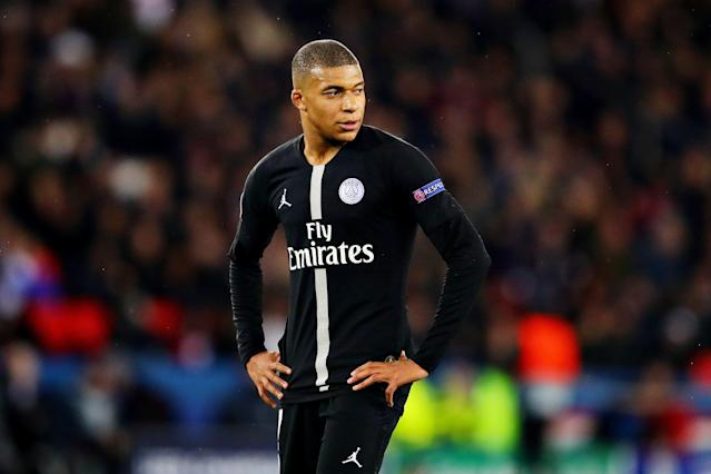 """Kylian Mbappe and PSG play at home for the first time since being knocked out of the Champions League by <a class=""""link rapid-noclick-resp"""" href=""""/soccer/teams/manchester-united/"""" data-ylk=""""slk:Manchester United"""">Manchester United</a>. (Getty)"""