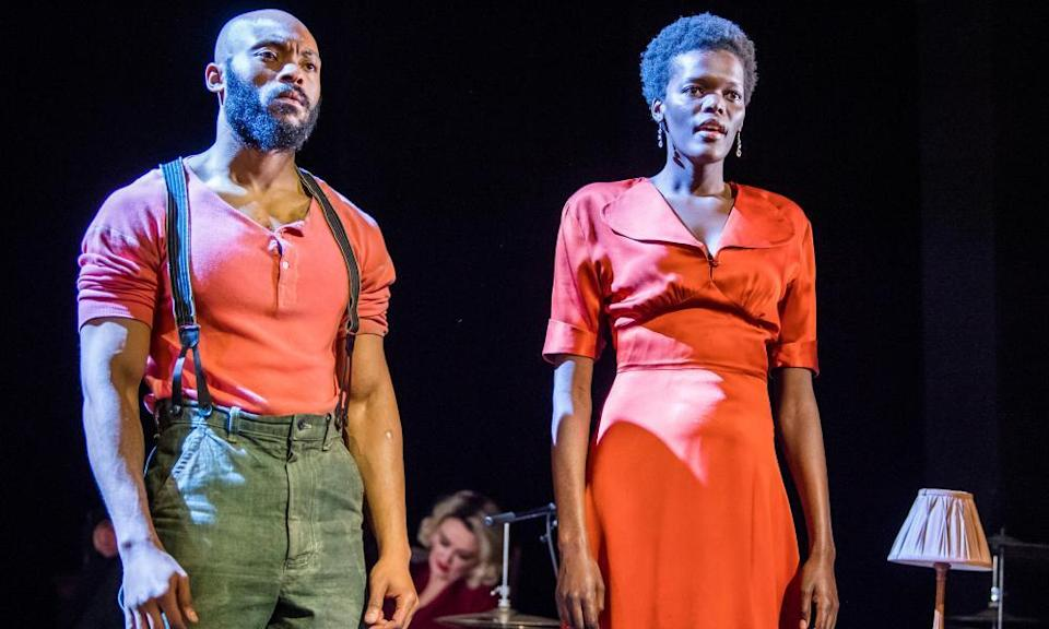 Arinzé Kene and Sheila Atim in Girl from the North Country at the Old Vic, 2018.