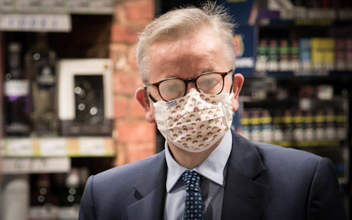 Michael Gove caused confusion over the official face masks rule this week - PA Wire