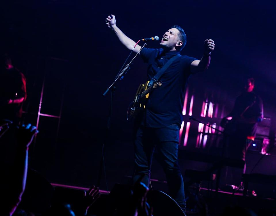 """<div class=""""inline-image__caption""""><p>Jad Gillies of Hillsong United performs during the OUTCRY tour at Bridgestone Arena on July 30, 2015, in Nashville, Tennessee.</p></div> <div class=""""inline-image__credit"""">Terry Wyatt/Getty</div>"""
