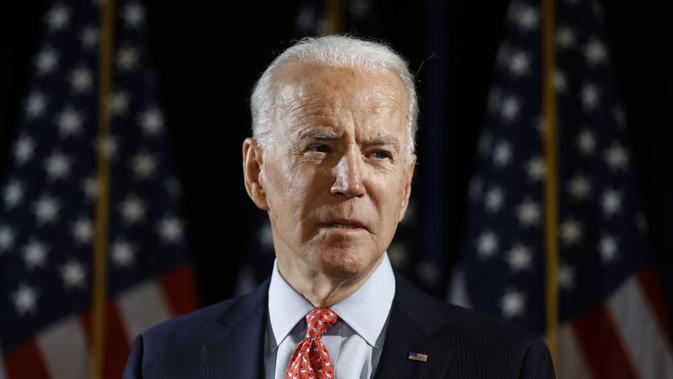 Joe Biden, calon presiden AS penantang Donald Trump pada pemilu November 2020 mendatang. (AP Photo/Matt Rourke)