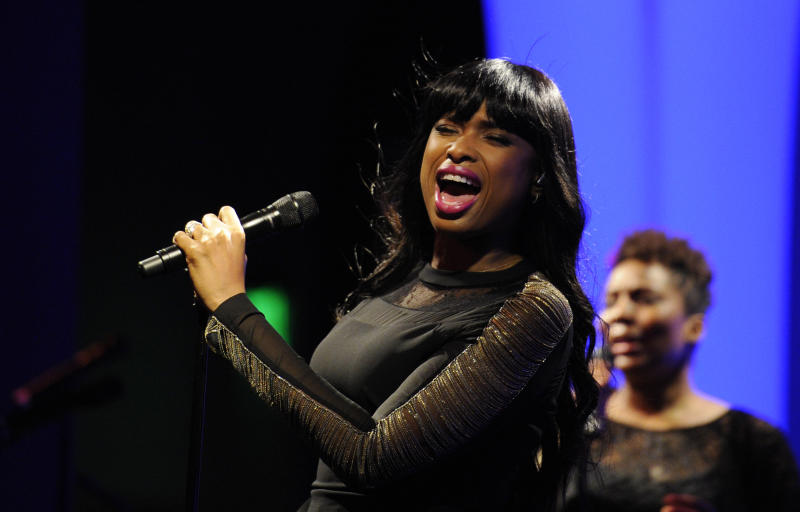 Jennifer Hudson performs at the Grammy's on the Hill Awards at The Hamilton on Wednesday, April 17, 2013 in Washington. (Photo by Nick Wass/Invision/AP)