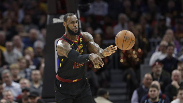 In his 15th season, LeBron James is on pace to play in all 82 games for the first time in his career. (AP Photo)