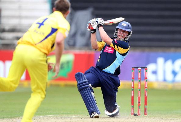 DURBAN, SOUTH AFRICA - OCTOBER 22:  Gary Balance of Yorkshire in action during the Champions League twenty20 match between Chennai Super Kings and Yorkshire Carnegie at Sahara Stadium Kingsmead on October 22, 2012 in Durban, South Africa. (Photo by Anesh Debiky / Gallo Images/Getty Images)