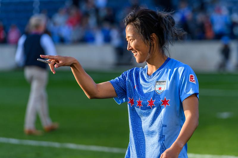 The Chicago Red Stars' Yuki Nagasato will return to Japan to play for a men's team. (Photo by Daniel Bartel/ISI Photos/Getty Images).