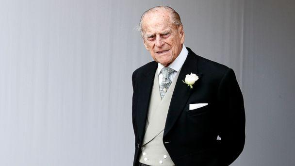 PHOTO: Prince Philip waits for the bridal procession following the wedding of Princess Eugenie of York and Jack Brooksbank in St George's Chapel, Windsor Castle, near London, Oct. 12, 2018. (Alastair Grant/AP, FILE)