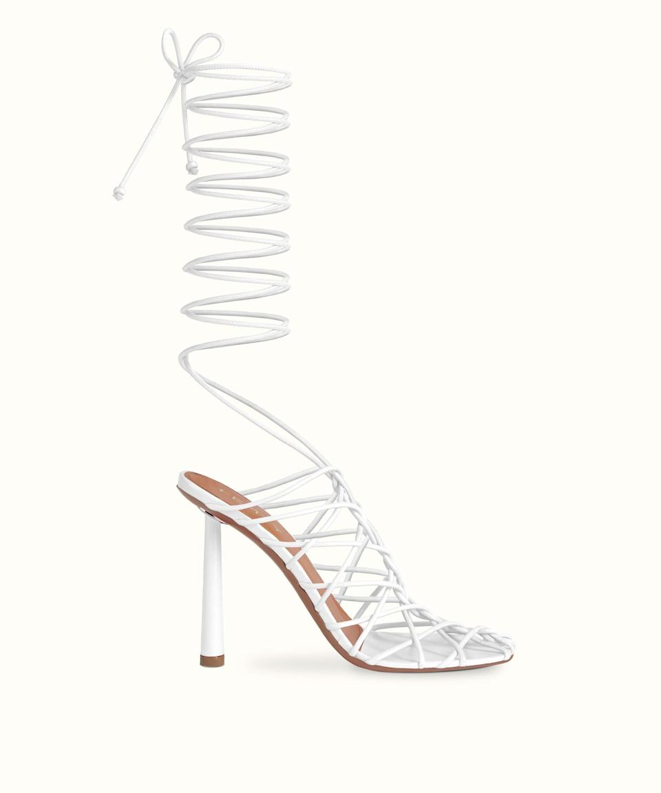 <p><span>Fenty Caged In in Coco White</span> ($740, currently sold out)</p>