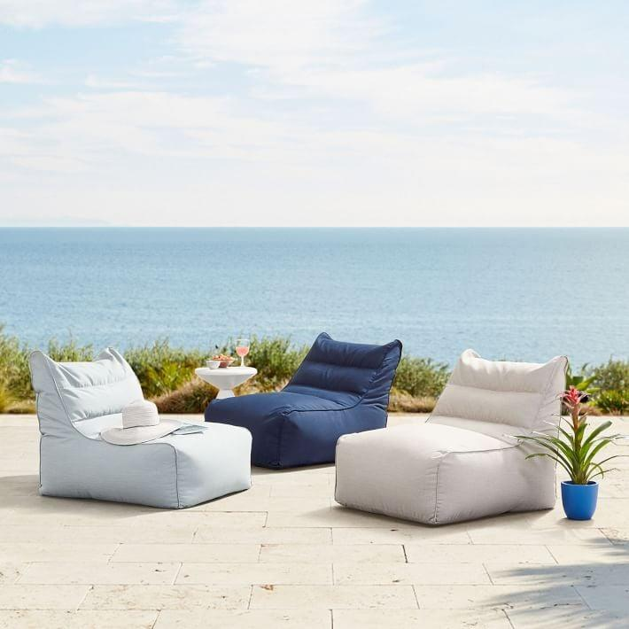 <p>We'll hit peak relaxation in these <span>West Elm Sunbrella Outdoor Bean Bags</span> ($299).</p>