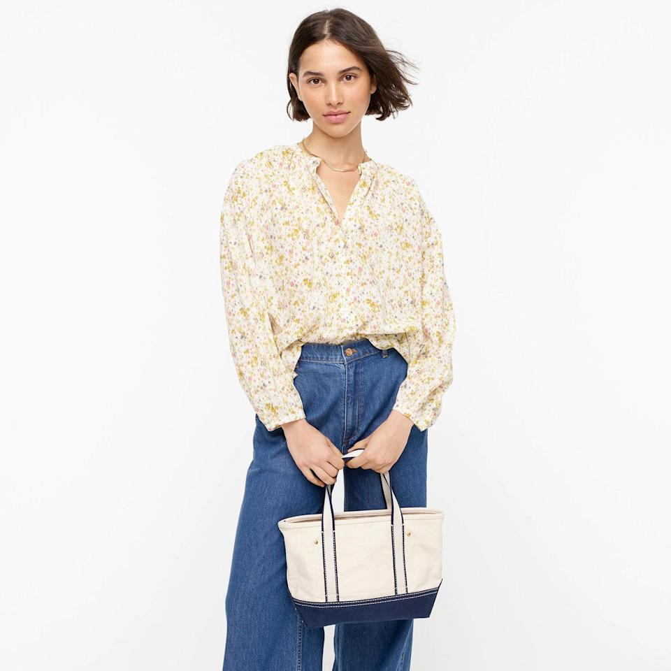 <p>This <span>J.Crew Cotton-voile Button-front Top</span> ($90) is a summertime dream.</p>