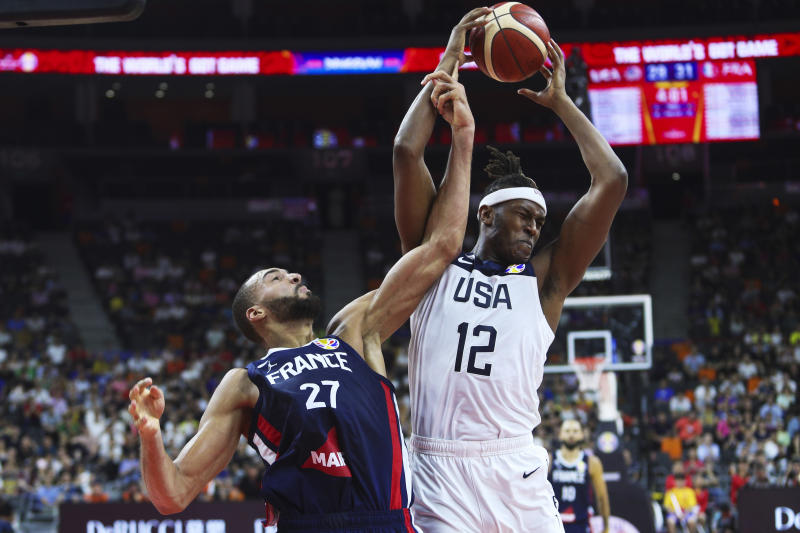 Rudy Gobert and Myles Turner both finished top five in Defensive Player of the Year voting before doing battle in the 2019 FIBA World Cup. (VCG via Getty Images)