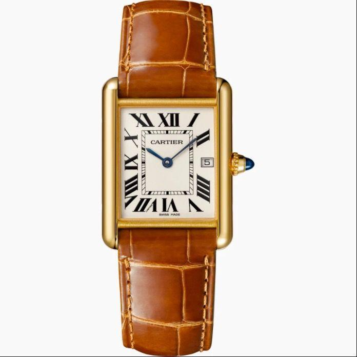 """<p><a class=""""link rapid-noclick-resp"""" href=""""https://www.cartier.com/en-gb/tank-louis-cartier-watch_cod44733502651459496.html#dept=EU_Tank"""" rel=""""nofollow noopener"""" target=""""_blank"""" data-ylk=""""slk:SHOP NOW"""">SHOP NOW</a></p><p>Introduced in 1919, the Tank was named after the armoured vehicles that rumbled across the battlefields of World War I, but the sleek linearity of its design (its shape was inspired by a bird's eye view of the first tanks, which had tracks running all around their bodies) has ensured a cult following ever since – its aficionados have included Yves Saint Laurent, Andy Warhol, Jackie Kennedy, Diana, Princess of Wales, and - more recently, Meghan, Duchess of Sussex - all style icons in their own right.</p><p>Tank watch, £9,350, <a href=""""https://www.cartier.com/en-gb"""" rel=""""nofollow noopener"""" target=""""_blank"""" data-ylk=""""slk:Cartier"""" class=""""link rapid-noclick-resp"""">Cartier</a></p>"""