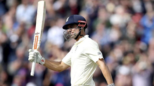 Former captain Alastair Cook's double century has England in a commanding position in Birmingham