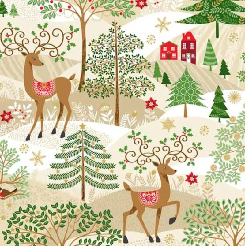 """Do you have a sewer or quilter in your life? Give them the gift of some gorgeous holiday fabric, so they can get a head start on making gifts for next year. <a href=""""https://fabricspark.com/collections/holiday/products/makower-silent-night-scenic"""" target=""""_blank"""" rel=""""noopener noreferrer"""">Get it at Fabric Spark, starting at $8.50</a>."""