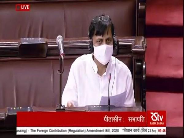 MoS Home Affairs Nityanand Rai speaking in the Rajya Sabha on Wednesday. Photo/ANI