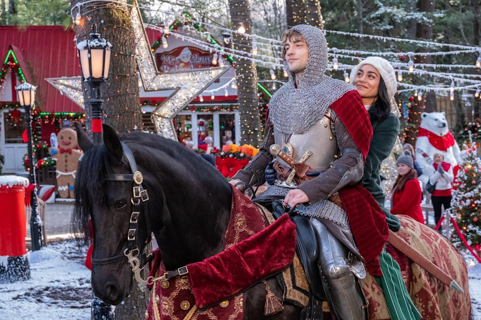 """<p>A medieval knight is sent forward in time by a sorceress, but ends up crossing paths with Brooke, a clever, kind science teacher in <strong>The Knight Before Christmas</strong>.</p> <p><a href=""""http://www.netflix.com/title/81026188"""" class=""""link rapid-noclick-resp"""" rel=""""nofollow noopener"""" target=""""_blank"""" data-ylk=""""slk:Watch The Knight Before Christmas on Netflix now."""">Watch <strong>The Knight Before Christmas</strong> on Netflix now.</a></p>"""