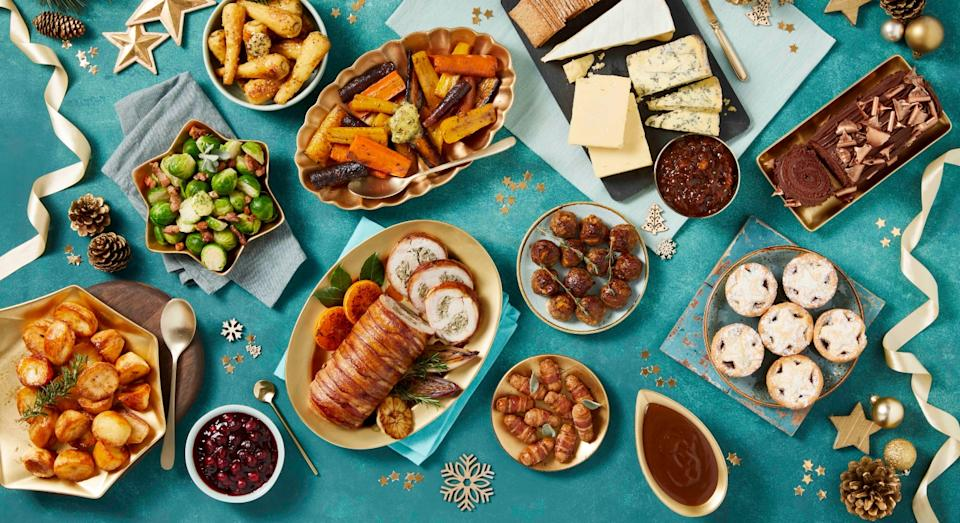 Morrisons' Christmas Box is packed with 16 different items (Morrisons)