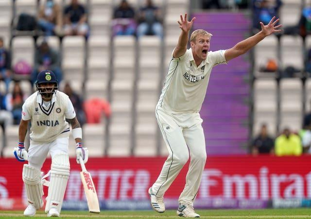 New Zealand bowler Kyle Jamieson dismissed India captain Virat Kohli during his five-wicket haul in the World Test Championship final