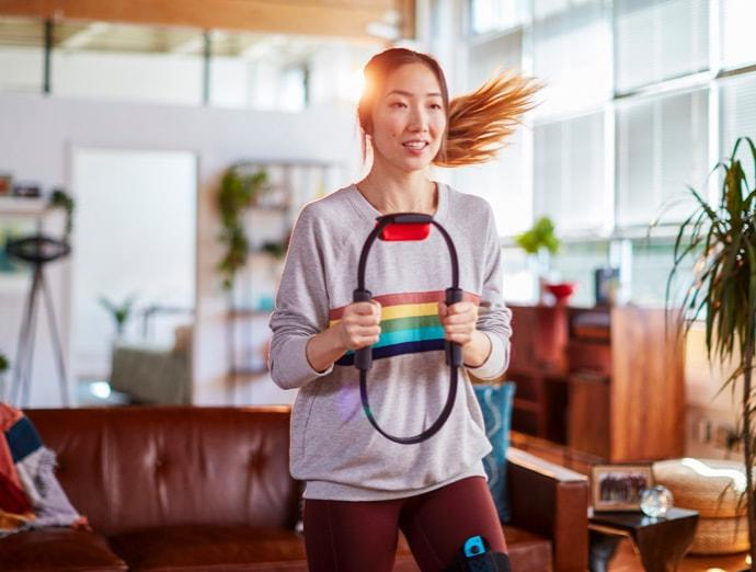 Nintendo's 'Ring Fit Adventure' will get you fit while you play. (Image: Nintendo)