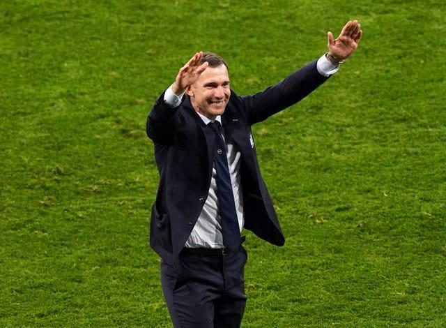 Ukraine manager Andriy Shevchenko led his nation to victory over Sweden in the last-16.