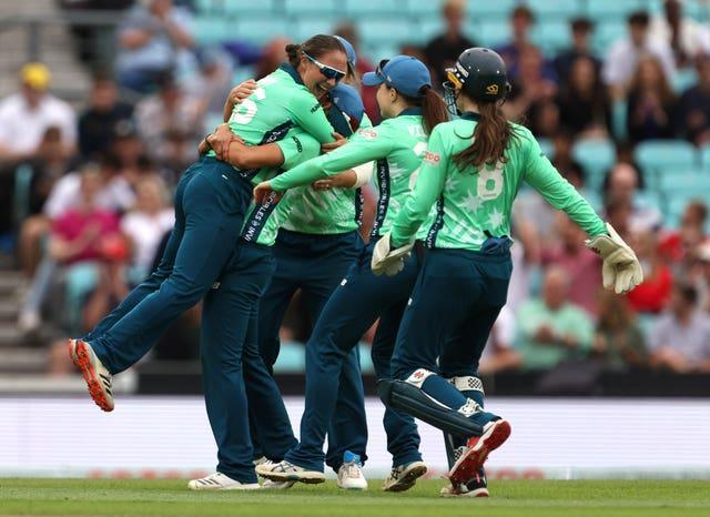 Oval Invincibles celebrated reaching the final